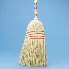 BROOM,MAID,MIXED FIBER,WOOD HNDL