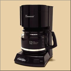 COFFEE MAKER, 12 CUP, BLACK