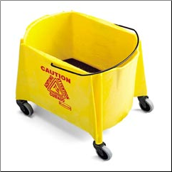 MOP BUCKET,YELLOW,44QT