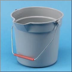 BRUTE RND BUCKET,GRAY,10QT
