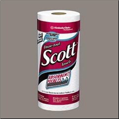 SCOTT PERFORATED ROLL TOWELS,WHITE