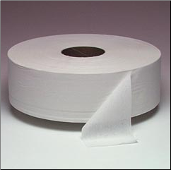 JRT T/T 1 PLY NON-PERFORATED, WHITE