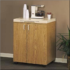BEVERAGE MATE CABINET OAK