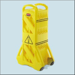 PORTABLE MOBILE BARRIER,YELLOW