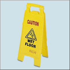 "FLOOR SIGN""WET FLOOR"",YELLOW"