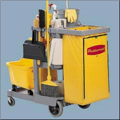 JANITOR CART 2000,BLUE