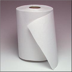 "8"" WHITE ROLL TOWEL"