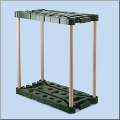 LONG HANDLE UTILITY STRG RACK,EVERGREEN/TAUPE